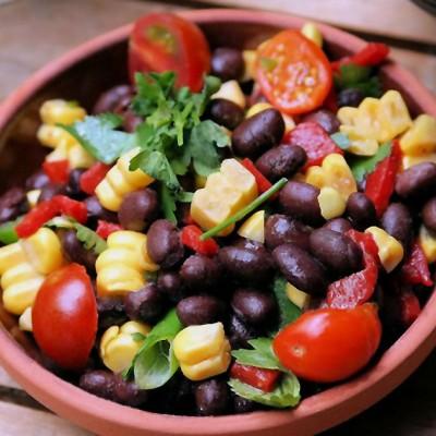 Fresh Corn, Black Bean, and Tomato Salad