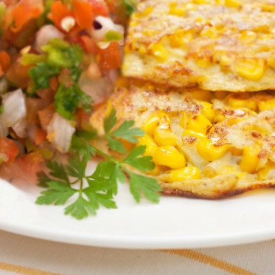 Summer Corn Cakes with Fresh Tomato Salsa