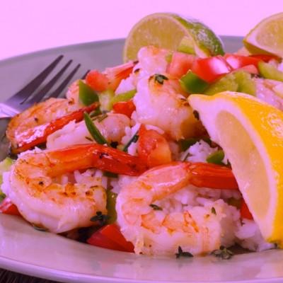 Sauteed Lemon Dill Shrimp