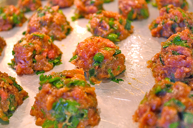 Turkey-Scallion Meatballs with Soy-Ginger Glaze - The Heritage Cook ®