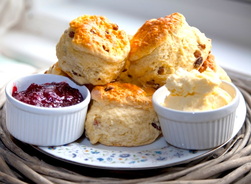 Regal Cream Scones with Lemon Curd - The Heritage Cook ®