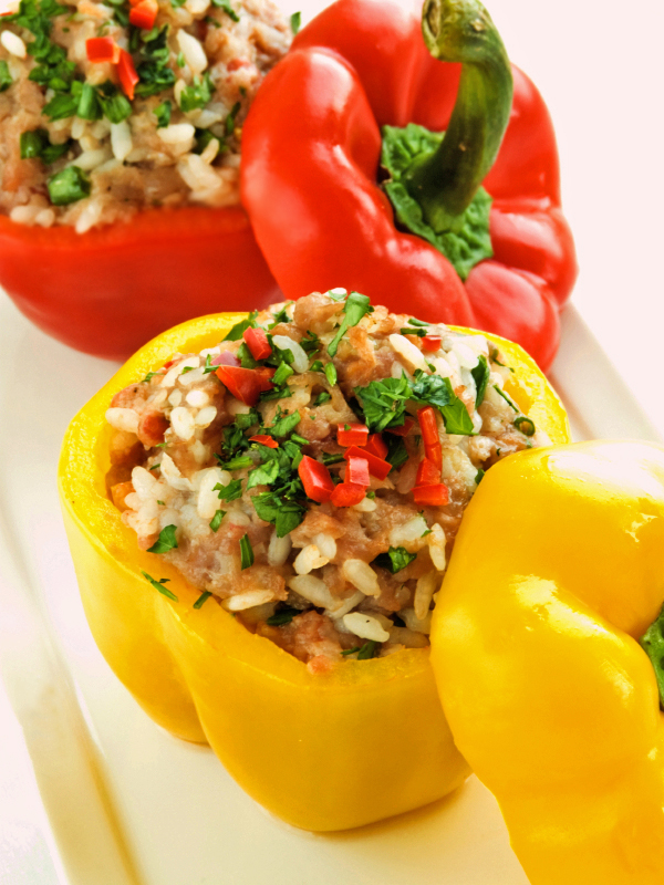 Tofu And Rice Stuffed Peppers Recipe — Dishmaps