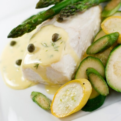 Petrale Sole with Meyer Lemon Beurre Blanc Sauce