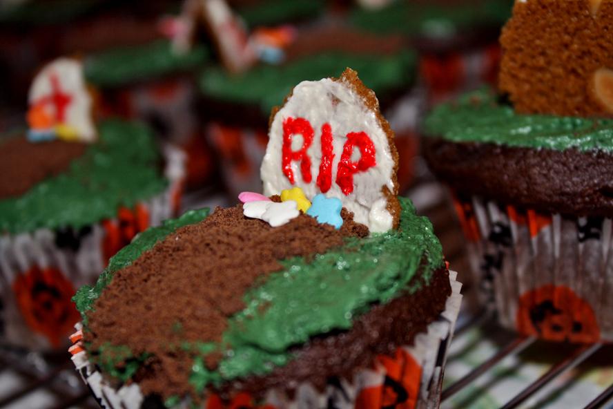 Halloween Tombstone Cupcakes Recipes — Dishmaps