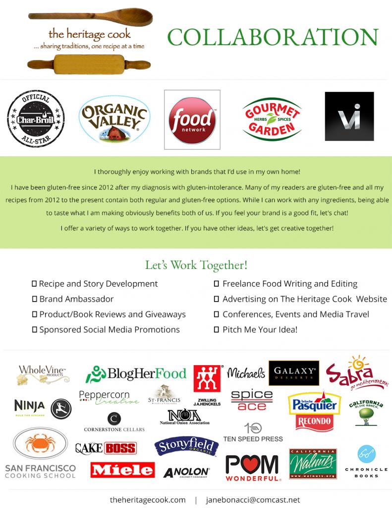 Food Blog Press Kit - The Heritage Cook