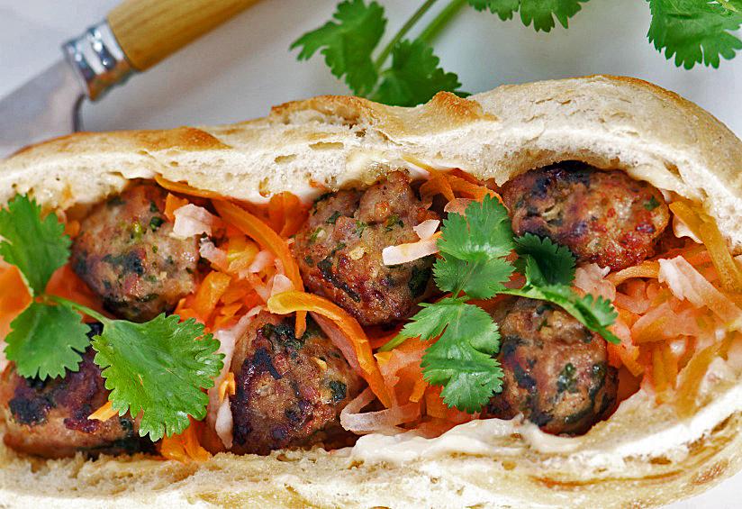 Banh Mi: Vietnamese Pork Meatball Sandwiches for Festive Friday ...