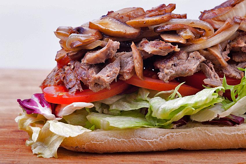 Grilled Steak Sandwiches with Portobello Mushrooms, Glazed Vidalia ...