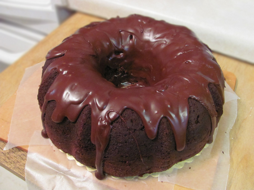 Frozen Mocha Cake With Chocolate Ganache Glaze Recipe ...
