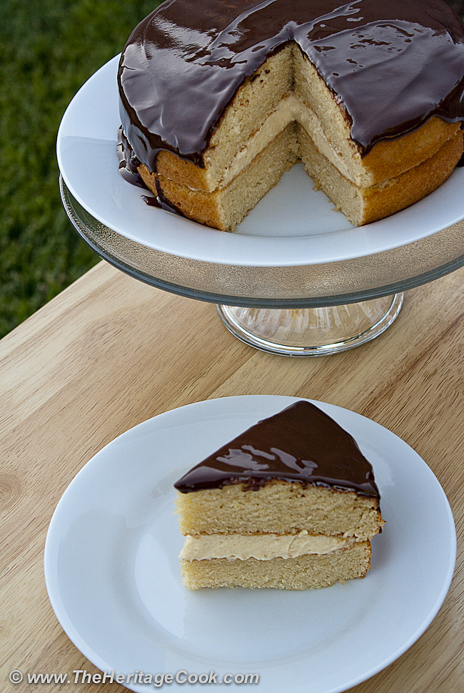 Boston Cream Pie Copyright Jane Bonacci, The Heritage Cook 2012