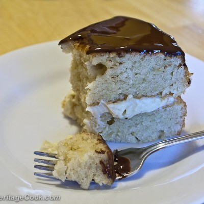 Boston Cream Pie-Cake for Chocolate Monday!