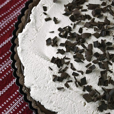 Chocolate Mocha Tart with Kahlua Mascarpone Cream