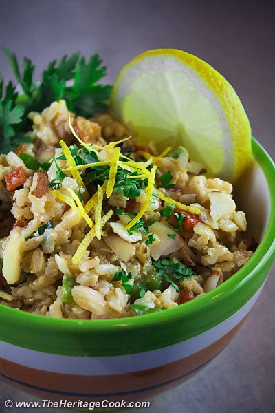 Chicken & Rice Salad with Citrus Vinaigrette; copyright 2012 Jane Bonacci, The Heritage Cook