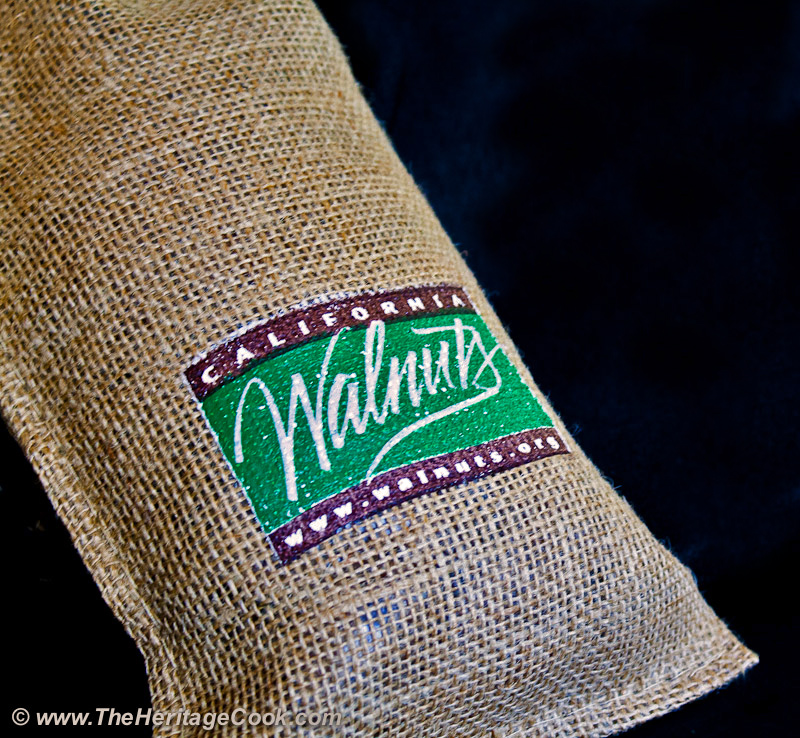 Burlap bag of California Walnuts
