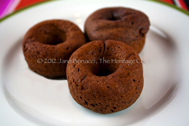 Gluten-Free Mini Baked Chocolate Cake Donuts copyright 2012 Jane Evans Bonacci, The Heritage Cook