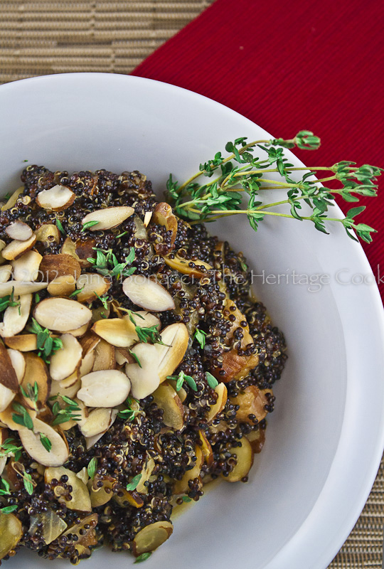 Black quinoa with toasted almonds