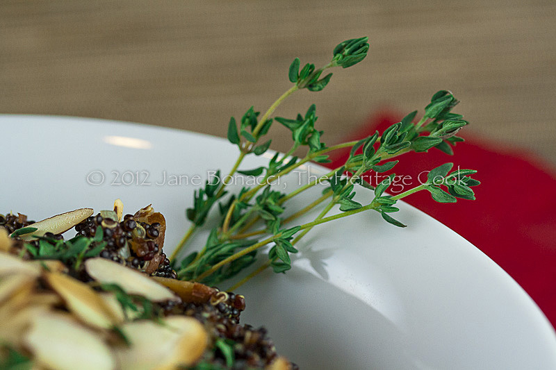 Close up of fresh thyme sprigs