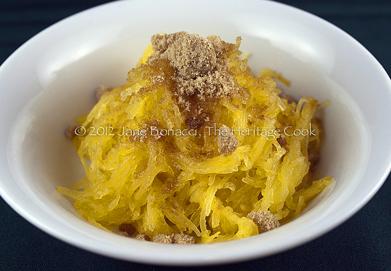 Spaghetti squash with brown sugar