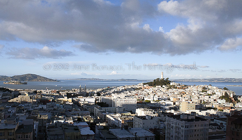 View of San Francisco Bay from the Fairmont Hotel