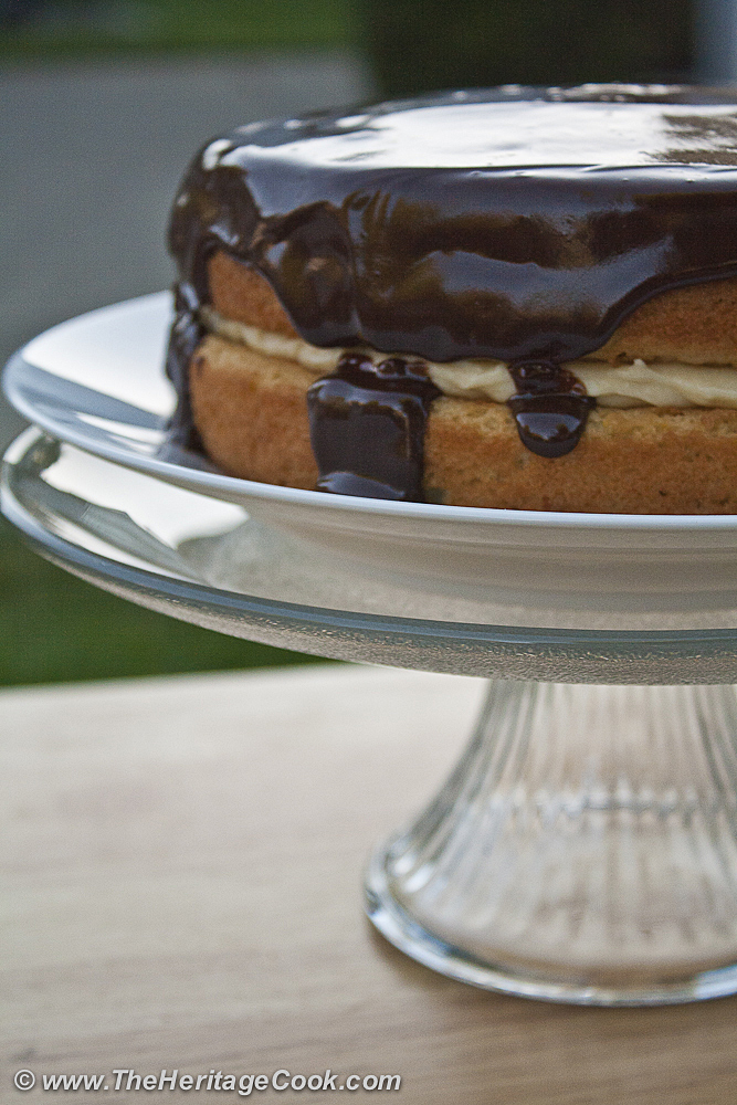 Boston-Cream-Pie-copyright Jane Evans Bonacci, The Heritage Cook 2012