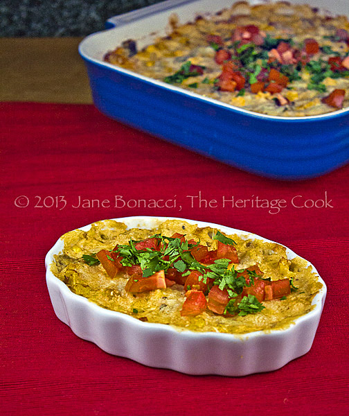 Hot-Cheesy-Artichoke-Chile-Dip copyright 2013 Jane Bonacci, The Heritage Cook. All rights reserved.
