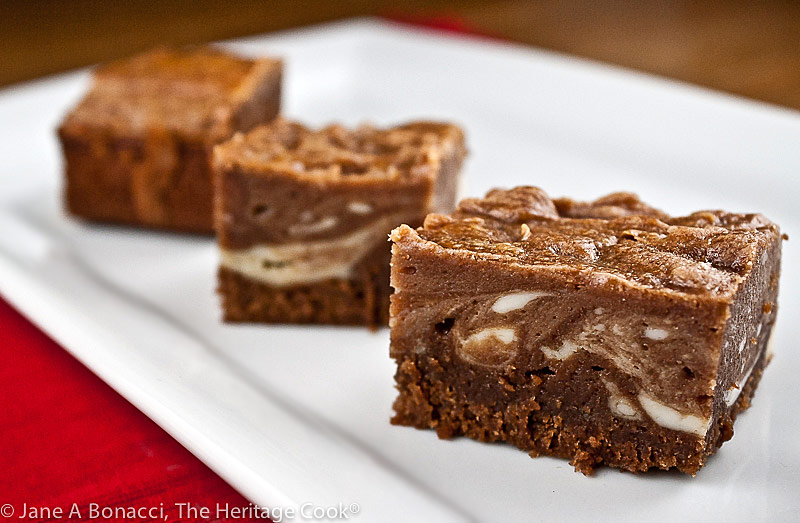 Marbled Cheesecake Brownies (GF) © 2021 Jane Bonacci, The Heritage Cook