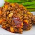 Vegetable-Stuffed Meatloaf (Gluten Free) © 2021 Jane Bonacci, The Heritage Cook