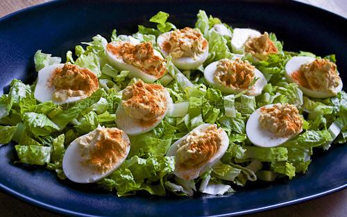 Easter-Deviled-Eggs copyright 2013 Jane Bonacci, The Heritage Cook