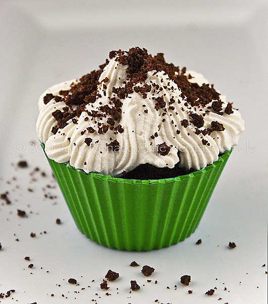 Irish Whiskey Chocolate Cupcakes-copyright 2013 Jane Bonacci, The Heritage Cook