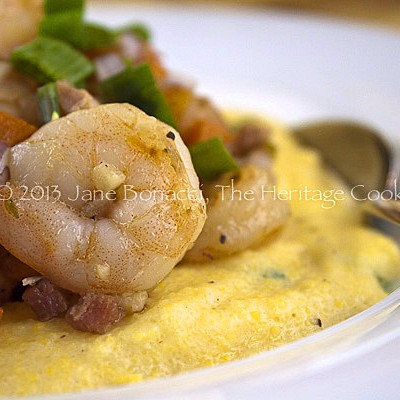 Shrimp and Polenta from FreshDish for Festive Friday