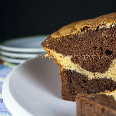 White Chocolate and Dark Chocolate Marbled Loaf Cake (SRC) Gluten-Free