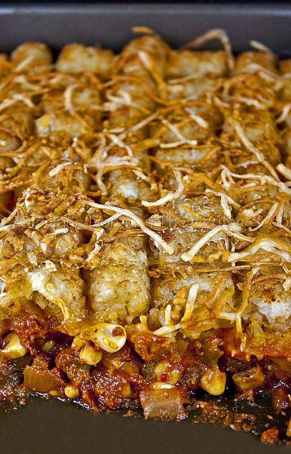 Taco Tot Casserole © 2013 Jane Bonacci, The Heritage Cook