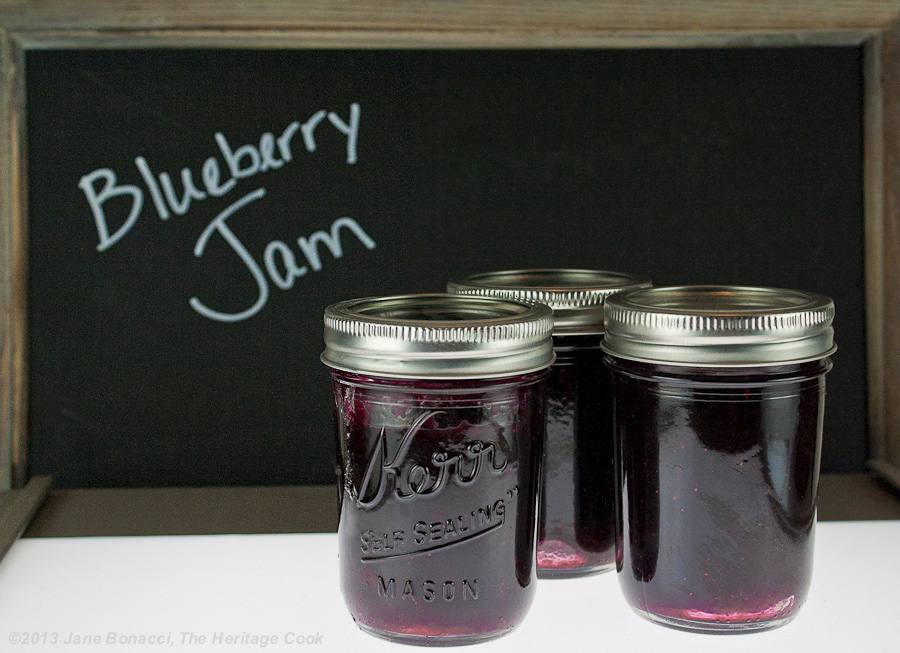 Homemade Blueberry Jam from The Heritage Cook