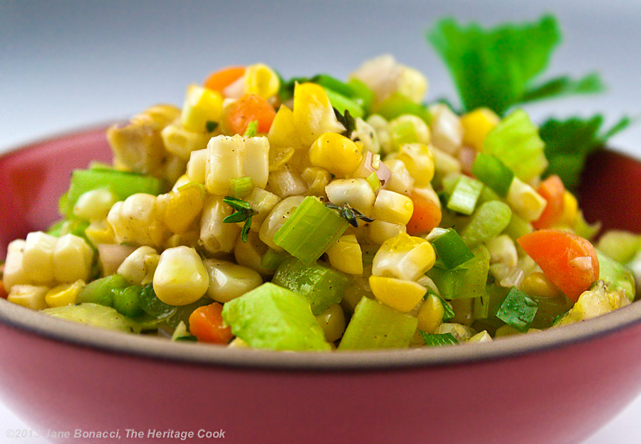 Fresh Corn and Tomato Salad for #SummerFest - The Heritage Cook ®