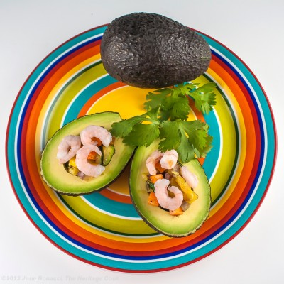 Summertime Vegetable-Shrimp Stuffed Avocados
