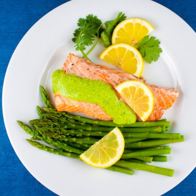 The Value of Blogging Conferences & Grilled Salmon with Cilantro-Chile Sauce