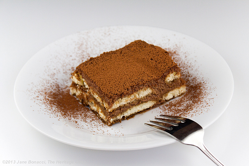 Chocolate Bourbon Tiramisu; The Heritage Cook 2013