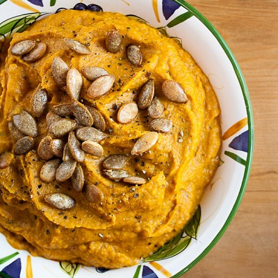 Chile Pumpkin Hummus for Food Network's #FallFest