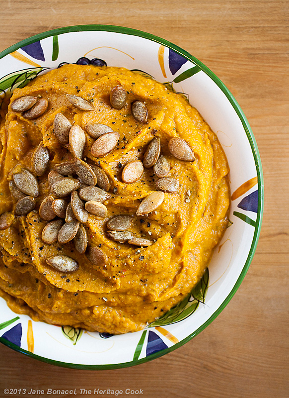Chile-Pumpkin Hummus #FallFest Food Network; 2013 The Heritage Cook