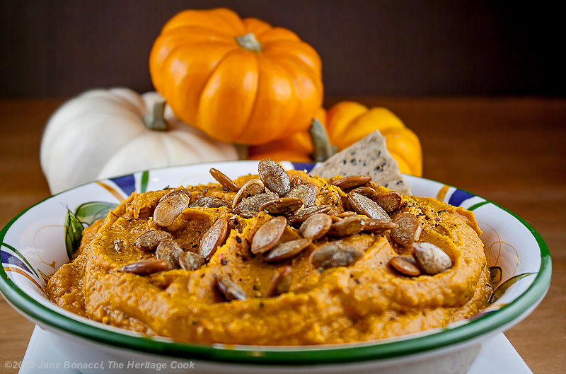 Chile-Pumpkin Hummus for Food Network's #FallFest - The Heritage Cook ...