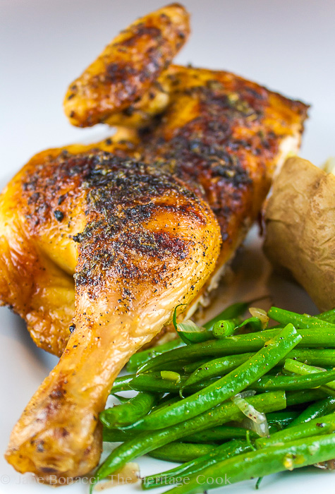 Butter-Basted BBQ Chicken; 2013 The Heritage Cook.