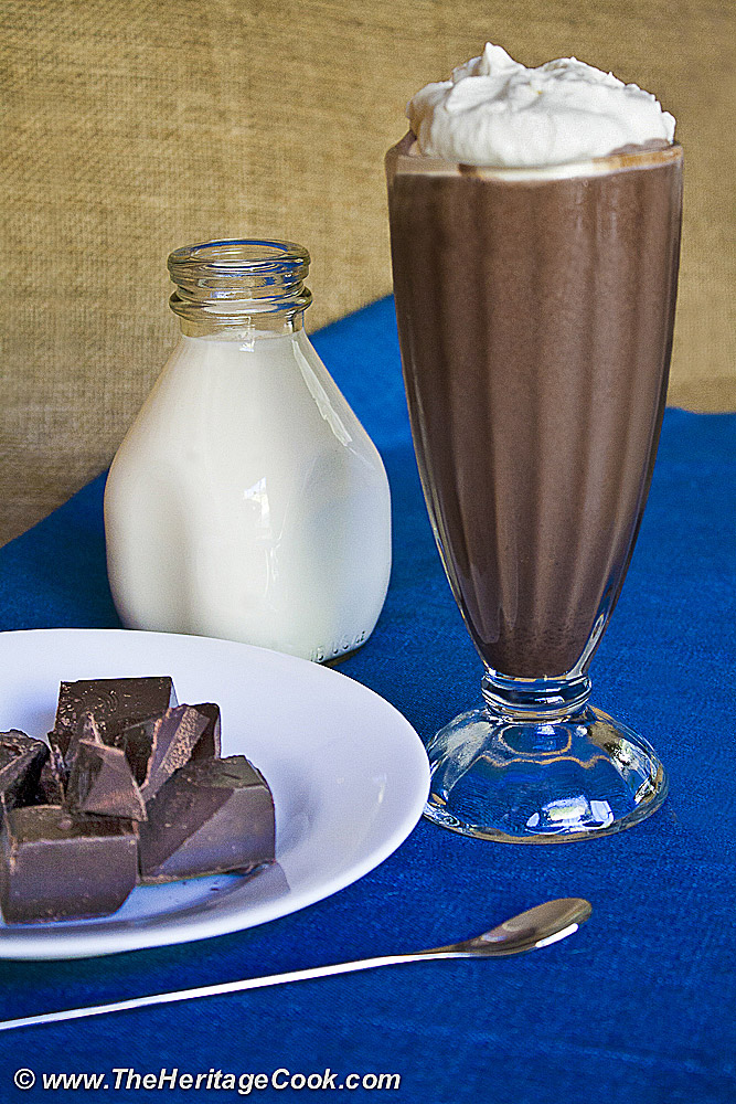Dark Chocolate Milk Shake; 2013 The Heritage Cook