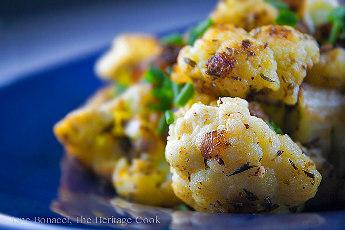 Holiday Cauliflower with Lemon & Dukkah for Food Network #FallFest; 2013 The Heritage Cook.