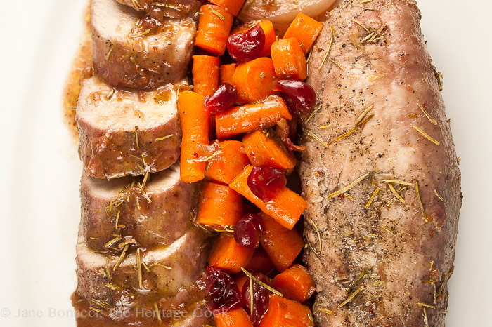 Roasted Pork Tenderloins with Cranberry Glaze; Jane Bonacci, The Heritage Cook - 2013