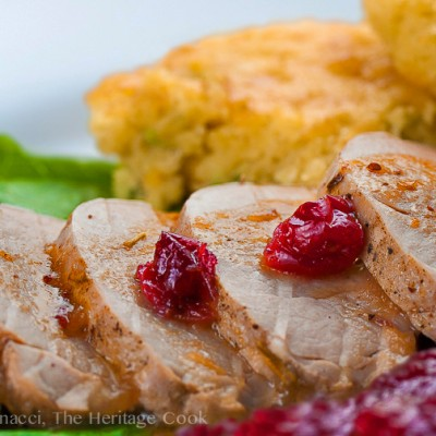 Blogging is a Lesson in Patience – Pork Tenderloin with Cranberry Glaze