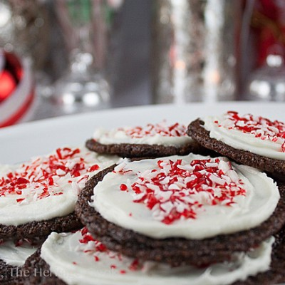 Chocolate Peppermint Sugar Cookies (Gluten Free)