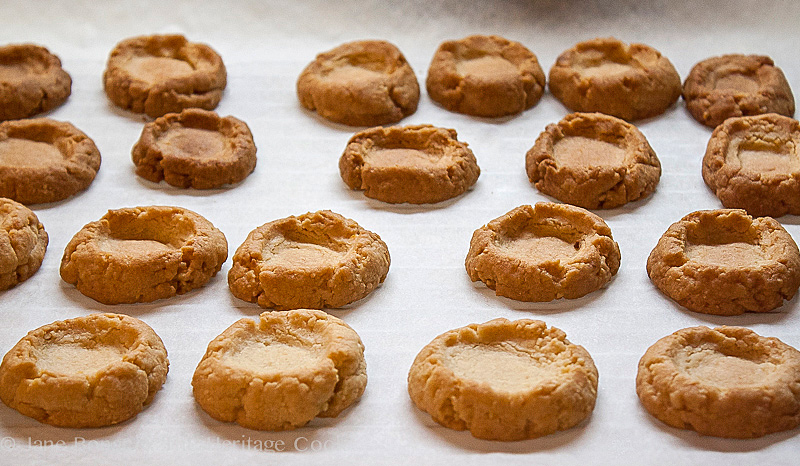 Chocolate Thumbprint Cookies (Gluten Free); 2014 Jane Bonacci, The Heritage Cook
