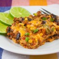Zesty Cheesy Mexican Casserole; Gluten-Free; 2014 Jane Bonacci, The Heritage Cook