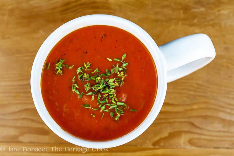 Italian Cream of Tomato Soup; 2014 Jane Bonacci, The Heritage Cook