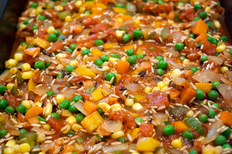 Tex-Mex Arroz con Pollo (Chicken with Rice) for #ComfortFoodFest; 2014 Jane Bonacci, The Heritage Cook