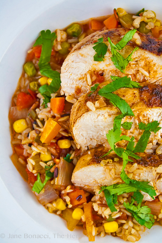 Tex-Mex Arroz con Pollo (Chicken with Rice) for #ComfortFoodFest; 2014 Jane Bonacci, The Heritage Cook